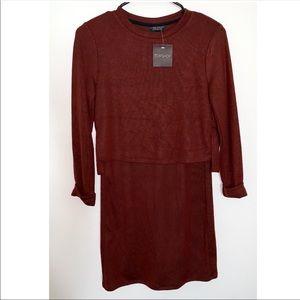🆕 Topshop Two Piece Mock Mini Dress Size 2